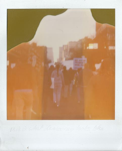Polaroid image of protest