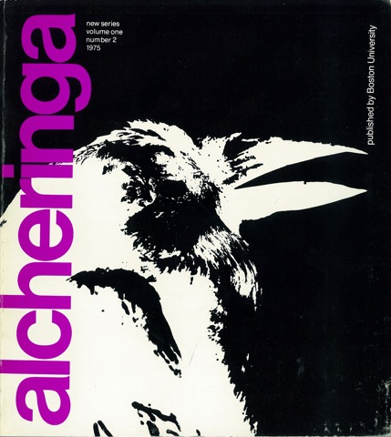 Alcheringa, New Series, Vol. 1 No. 2, 1975