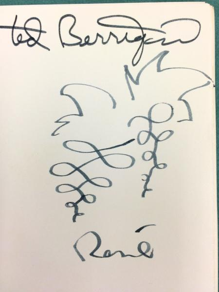 Ted berrigan signature close-up
