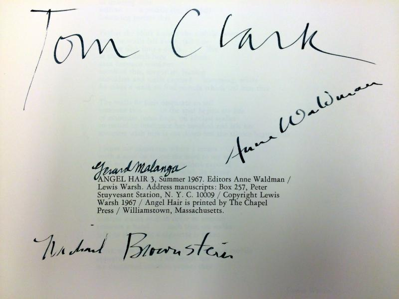Tom Clark signature up close