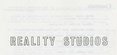 from Reality Studios, Vol. 8, 1986