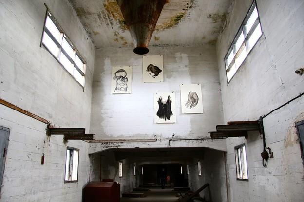 Fukl by Kristín Eiríksdóttir & Kari Ósk Grétudóttir, hung in the herring factory