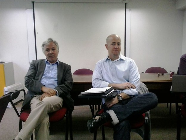 Scott Weintraub (right) and the other Juan Luis Martinez (left) in Santiago