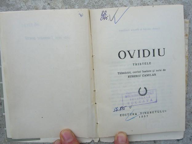 Tristele, Ovidiu