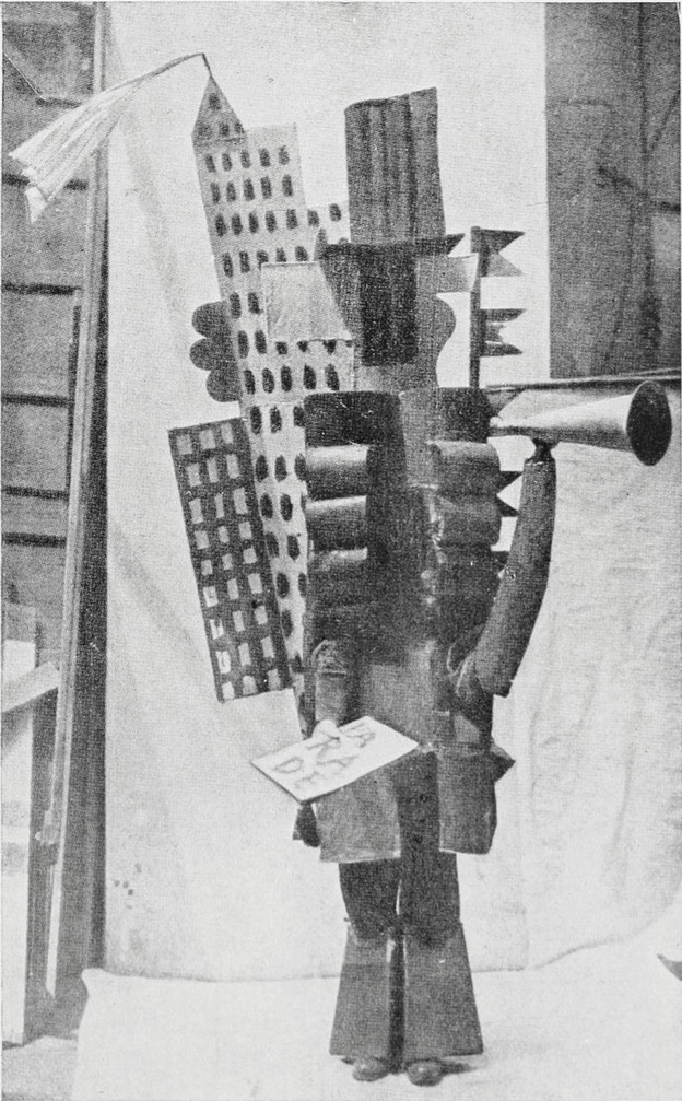 Pablo Picasso's skyscrapers and boulevards costume for Parade