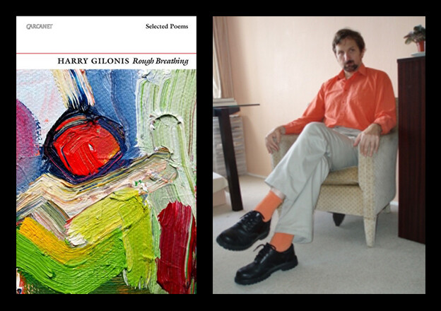 Image of 'Rough Breathing' cover and photo of Harry Gilonis.