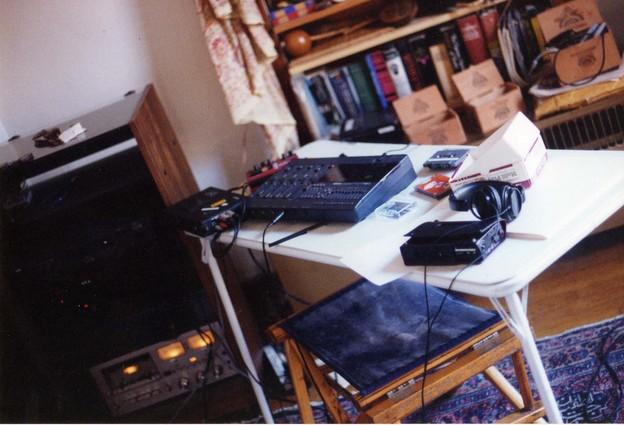 Purkinge Albany studio setup, 1994