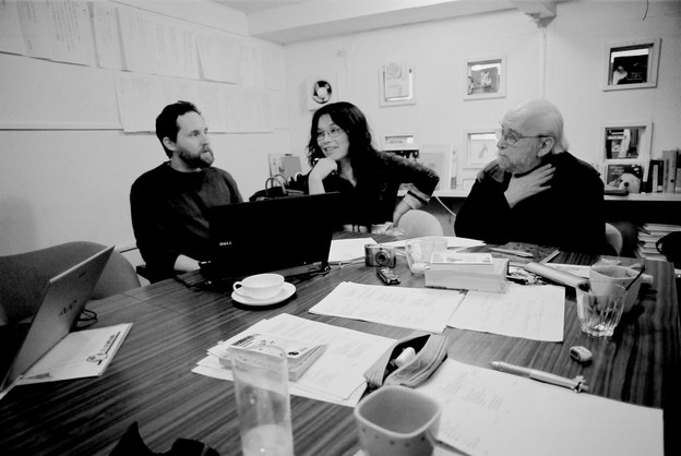 (l. to r.) Jeffrey Angles, Hiromi Ito, Jerome Rothenberg