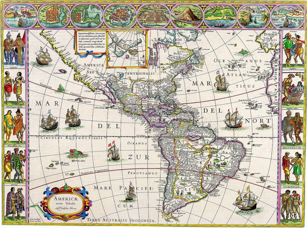 W. Blaeu, Americae Nova Tabula. Amsterdam, 1645