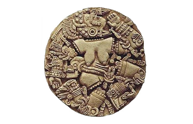 Bas-relief of Coyolchauhqui, from Templo Mayor, Tenochtitlan