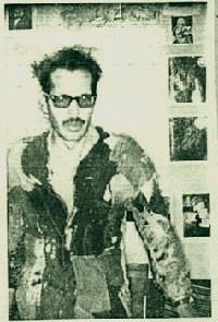Bolivian poet Jaime Saenz (1921–1986) dressed in a beggar's jacket.