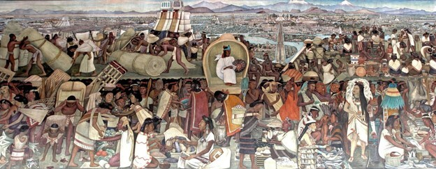 The Great Tenochtitlán by Diego Rivera