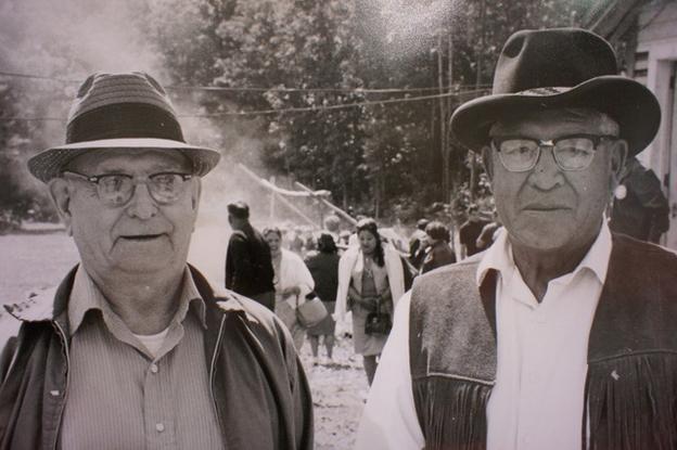 Harry Watt (right) with Ed Currey, circa 1970